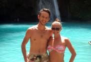 Peter Svaral a Lucia Kawasan Falls Filipiny Cebu2